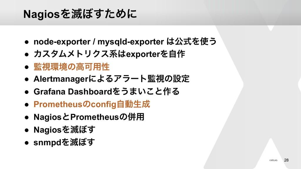 !28 NagiosΛ໓΅ͨ͢Ίʹ ● node-exporter / mysqld-expo...
