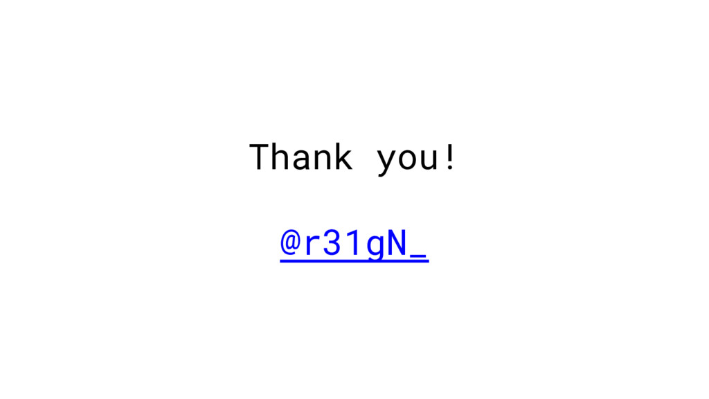 Thank you! @r31gN_