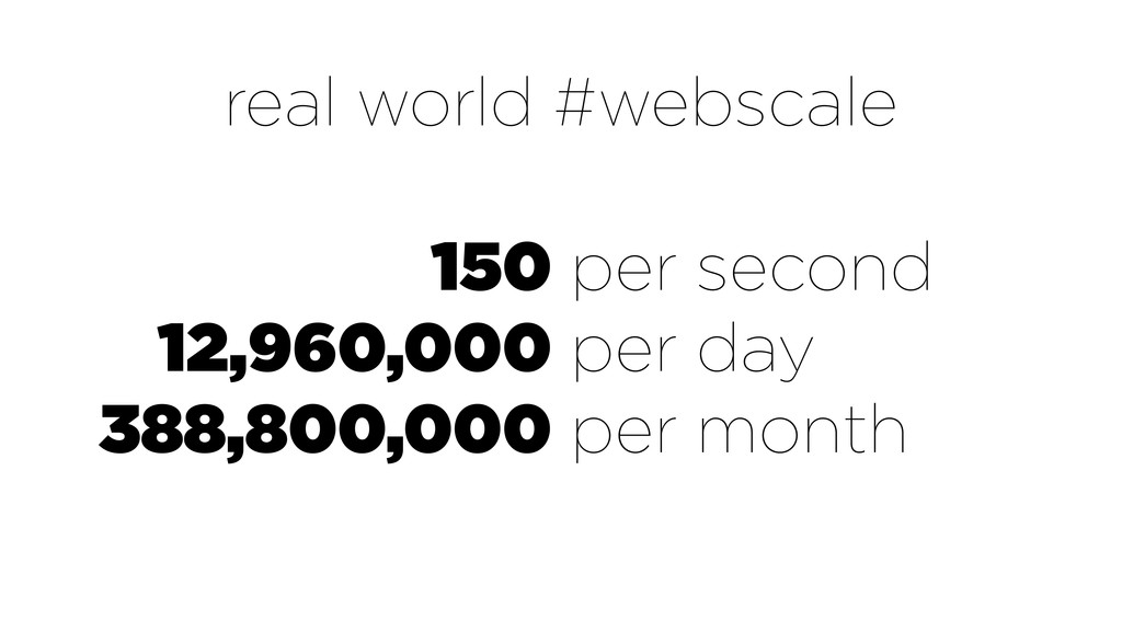 150 12,960,000 388,800,000 per second per day p...