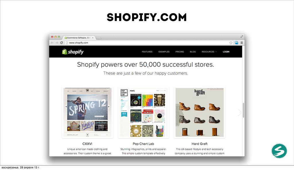 shopify.com воскресенье, 28 апреля 13 г.