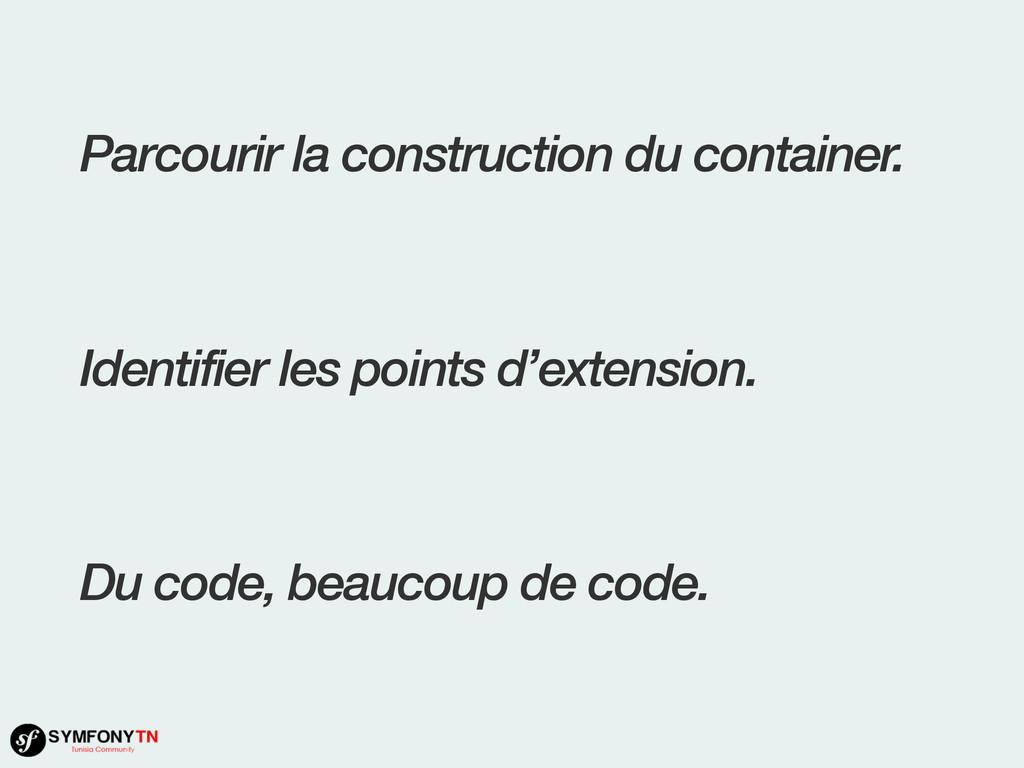 Parcourir la construction du container. Identif...