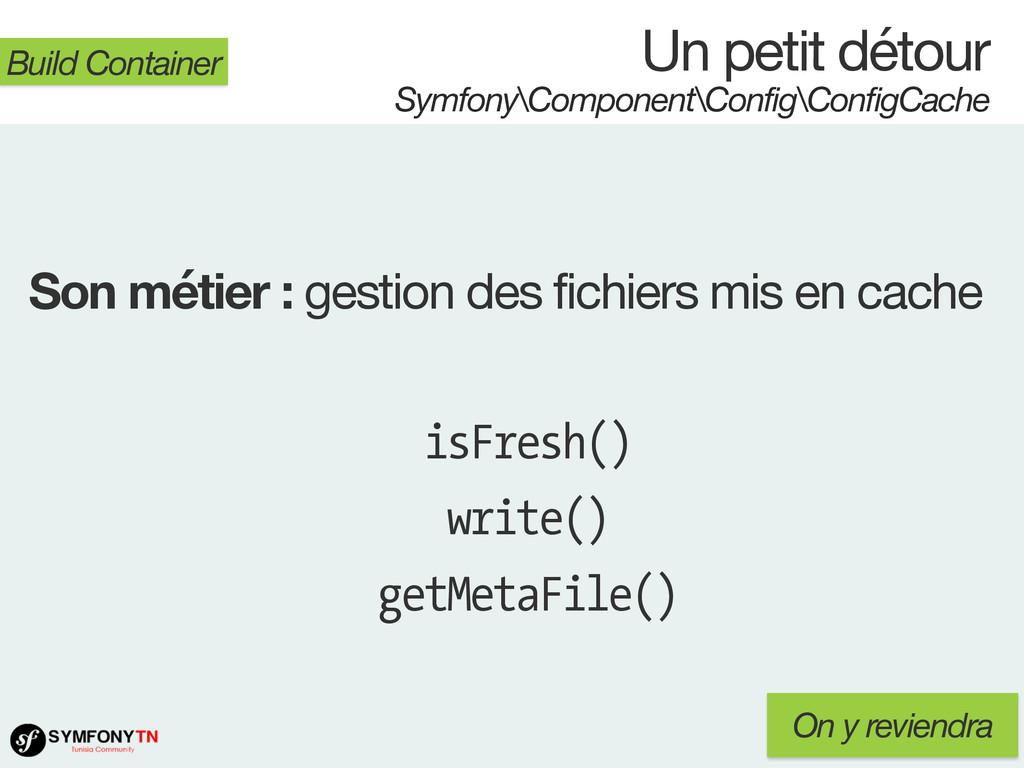 Un petit détour Symfony\Component\Config\Config...