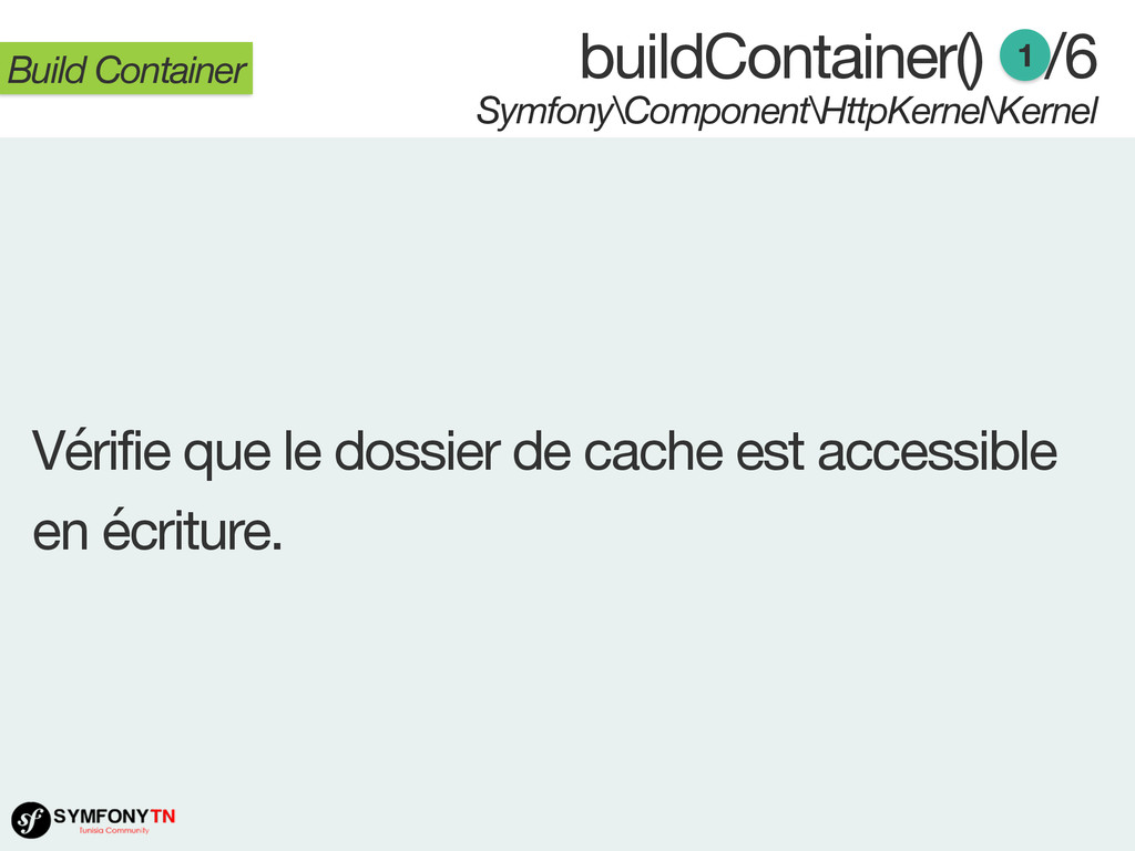 buildContainer() 1/6 Symfony\Component\HttpKern...