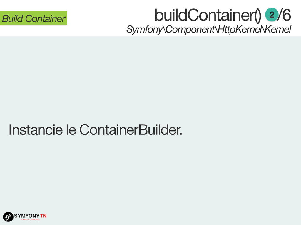 buildContainer() /6 Symfony\Component\HttpKerne...