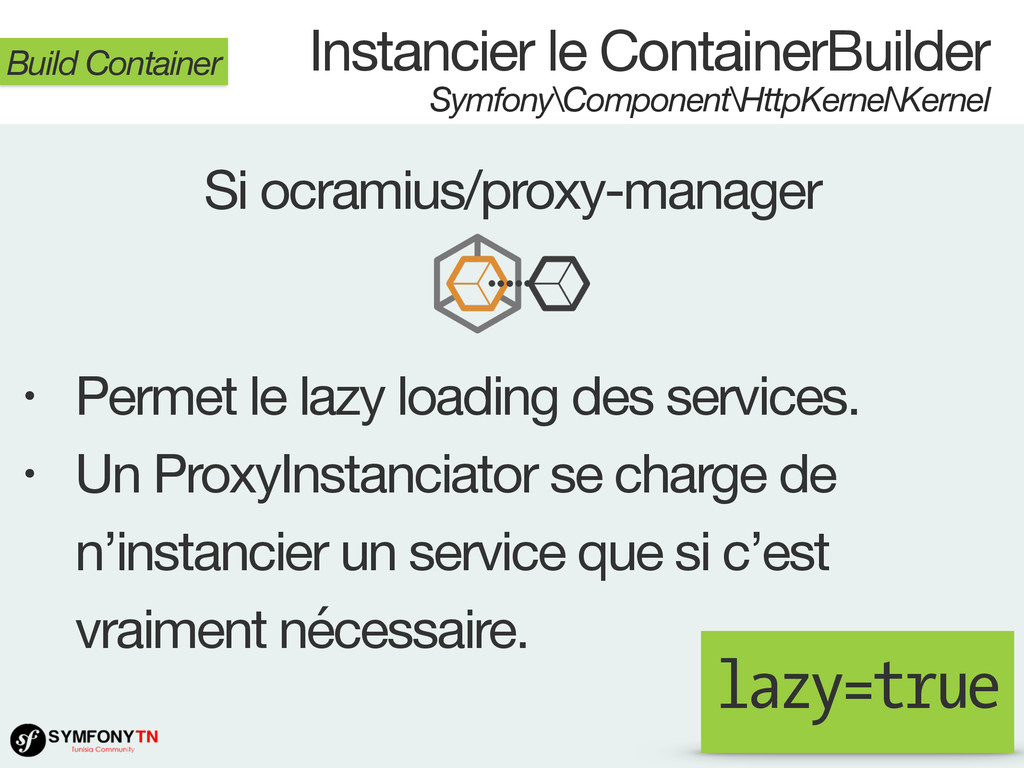 Instancier le ContainerBuilder Symfony\Componen...