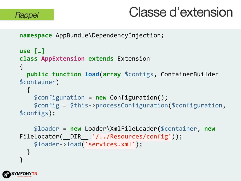 namespace AppBundle\DependencyInjection; ...
