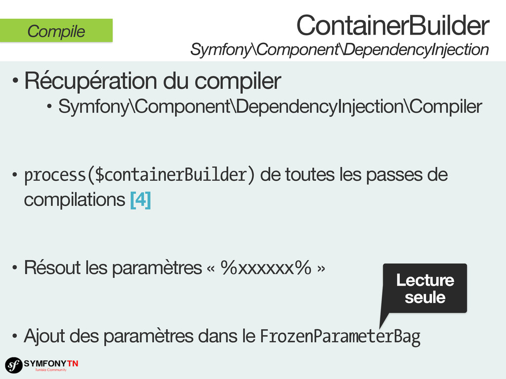 ContainerBuilder Symfony\Component\DependencyIn...