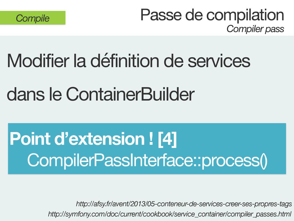 Passe de compilation Compiler pass Compile Modi...