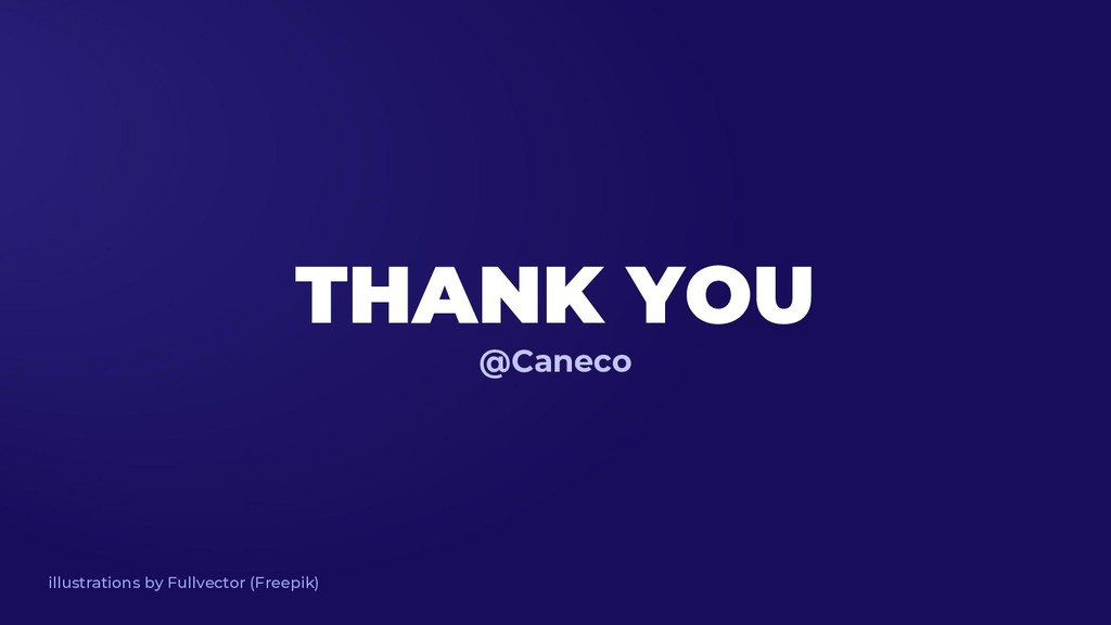 THANK YOU @Caneco illustrations by Fullvector (...