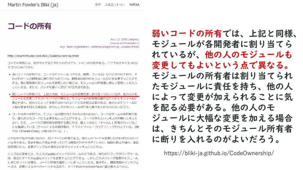 https://bliki-ja.github.io/CodeOwnership/ 弱いコード...