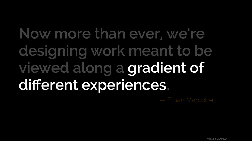 Now more than ever, we're designing work meant ...