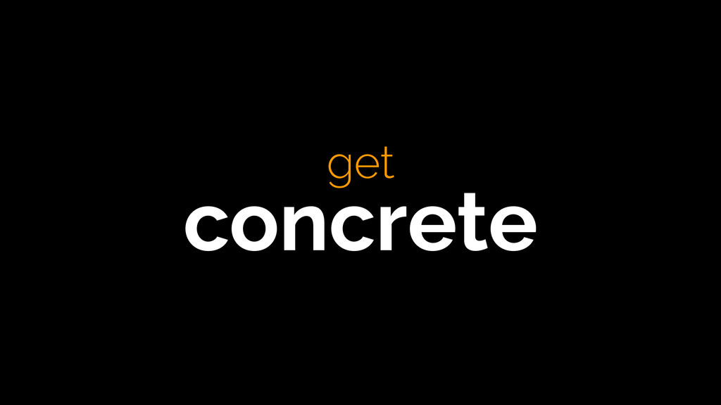 get concrete