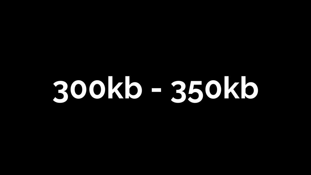 300kb - 350kb