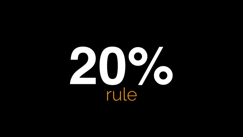 20% rule