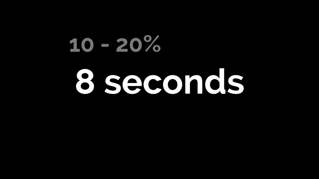 10 - 20% 8 seconds