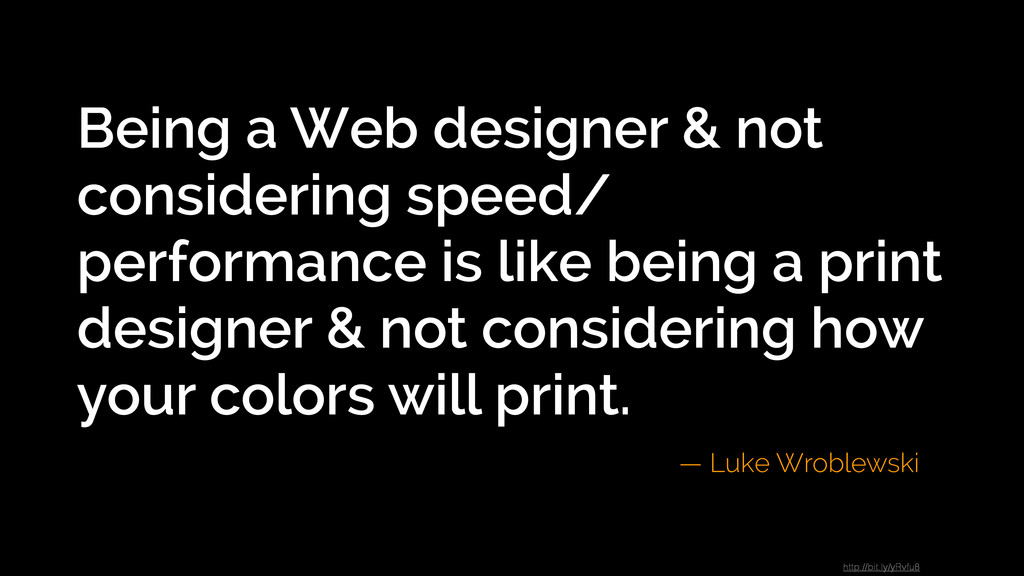 Being a Web designer & not considering speed/ p...