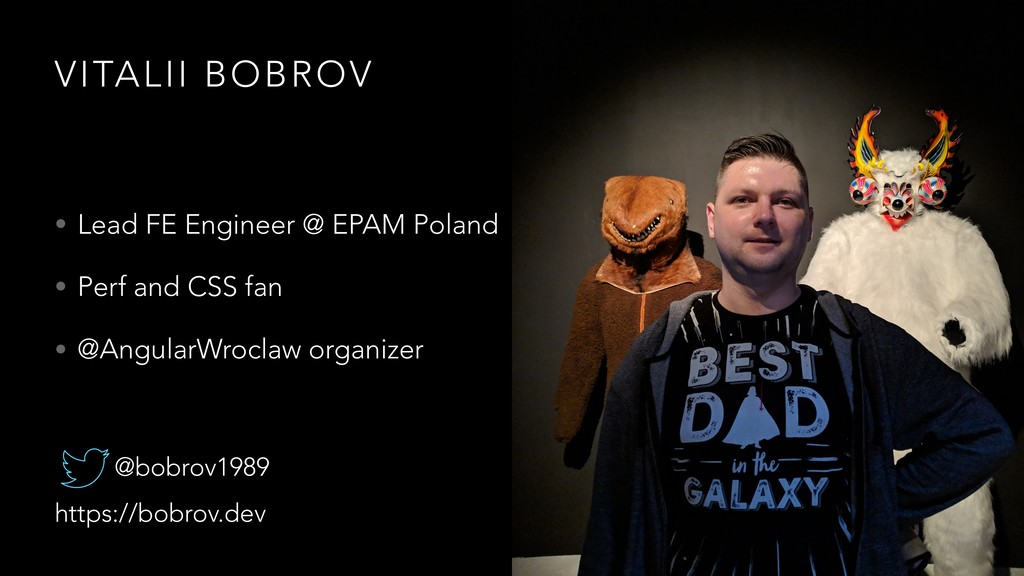 VITALII BOBROV • Lead FE Engineer @ EPAM Poland...