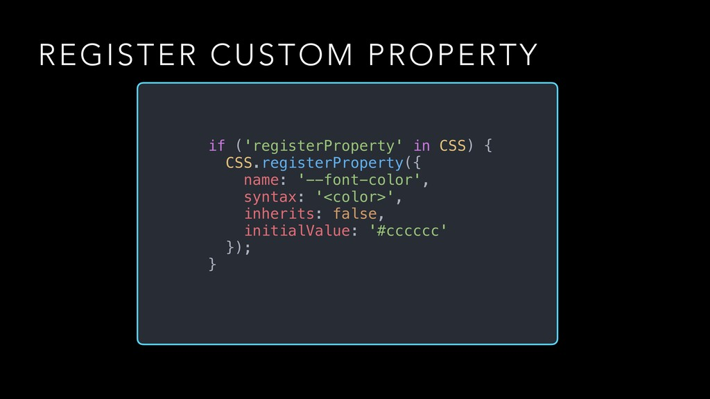 REGISTER CUSTOM PROPERTY if ('registerProperty'...