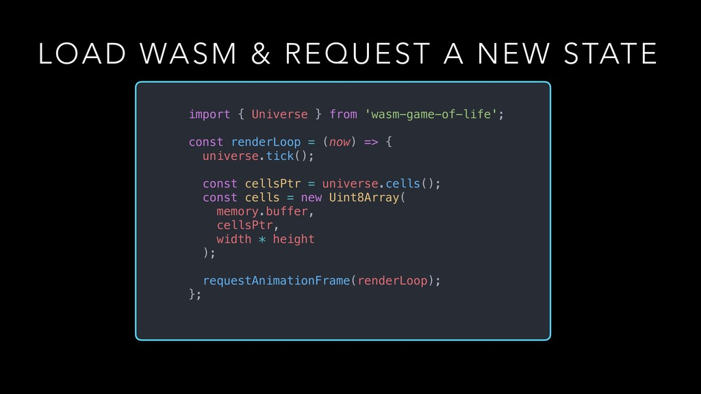 LOAD WASM & REQUEST A NEW STATE import { Univer...