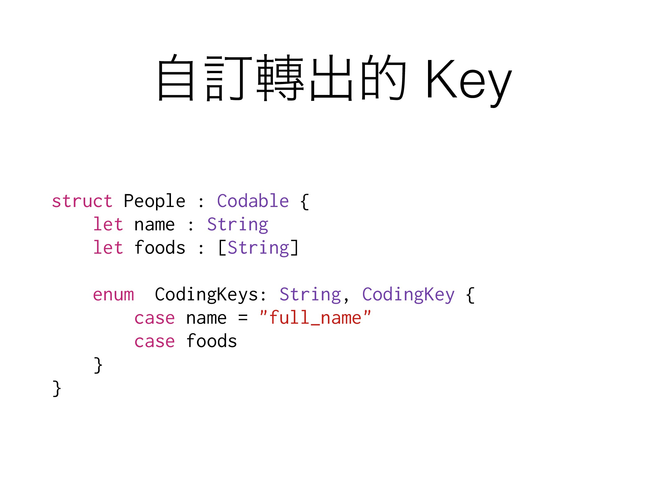 ࣗగग़త Key struct People : Codable { let name : ...