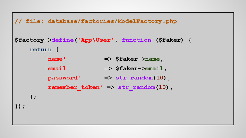 // file: database/factories/ModelFactory.php $f...