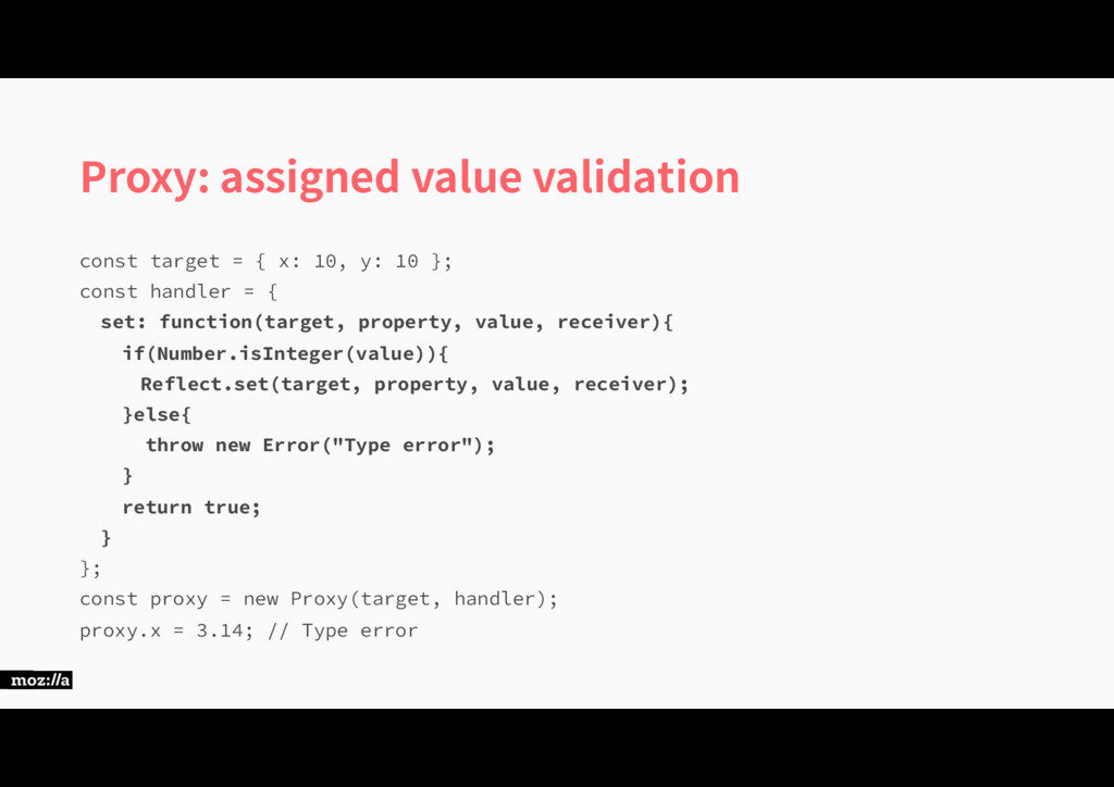 Proxy: assigned value validation DPOTUUBSHFU...