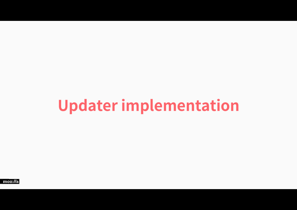 Updater implementation