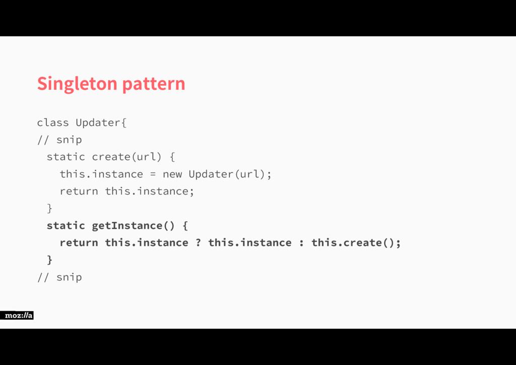 Singleton pattern DMBTT6QEBUFS\ TOJQ TUBU...