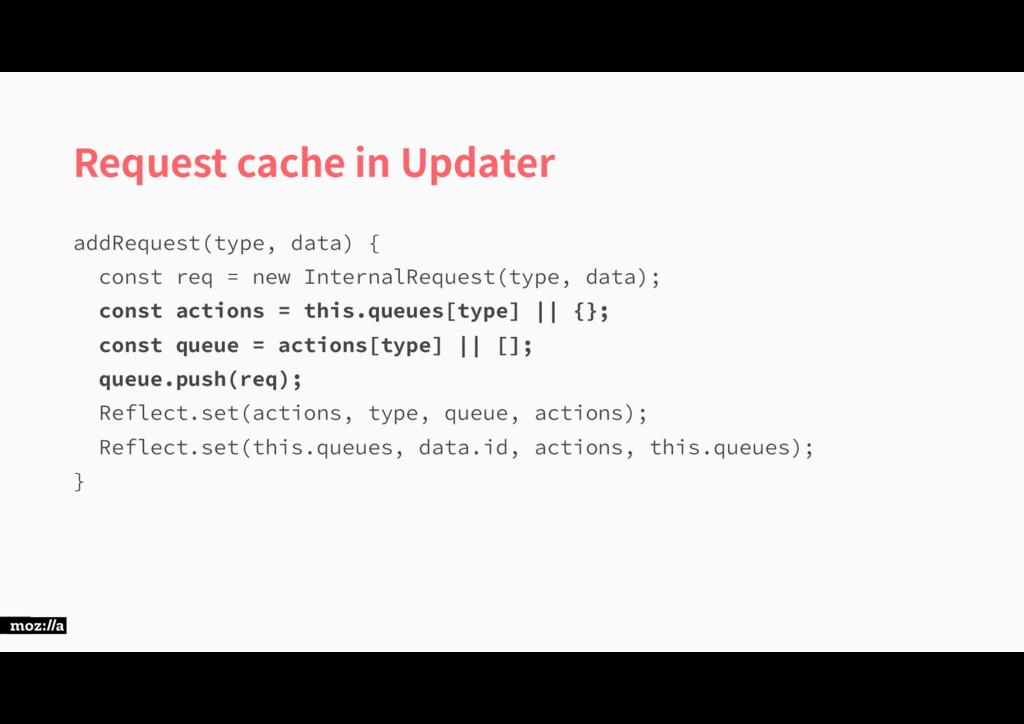 Request cache in Updater BEE3FRVFTU UZQFEBUB ...