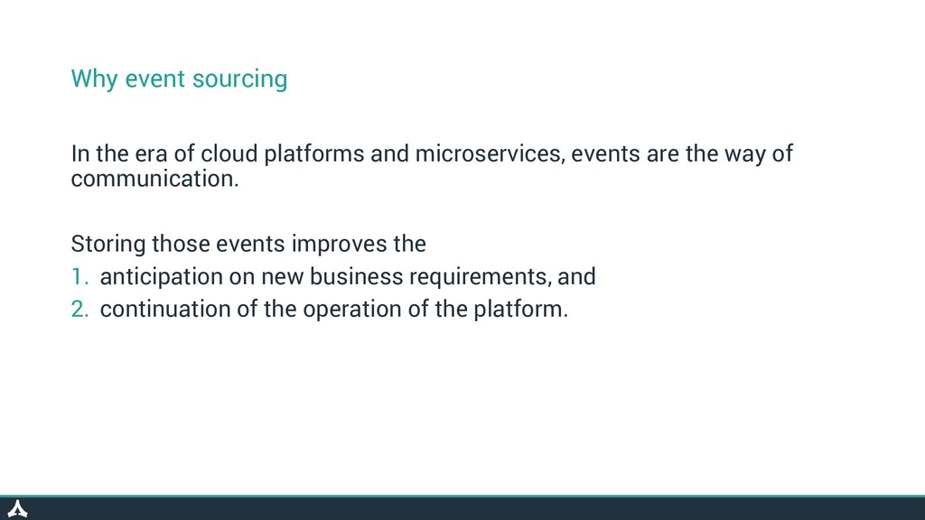 Why event sourcing In the era of cloud platform...