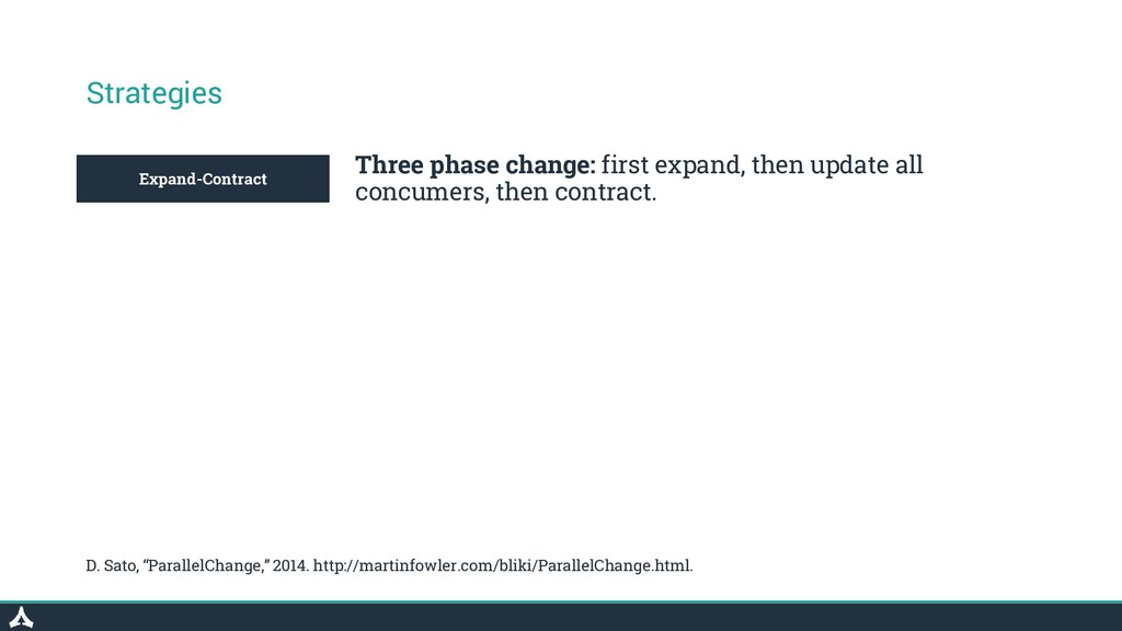 Expand-Contract Strategies Three phase change: ...