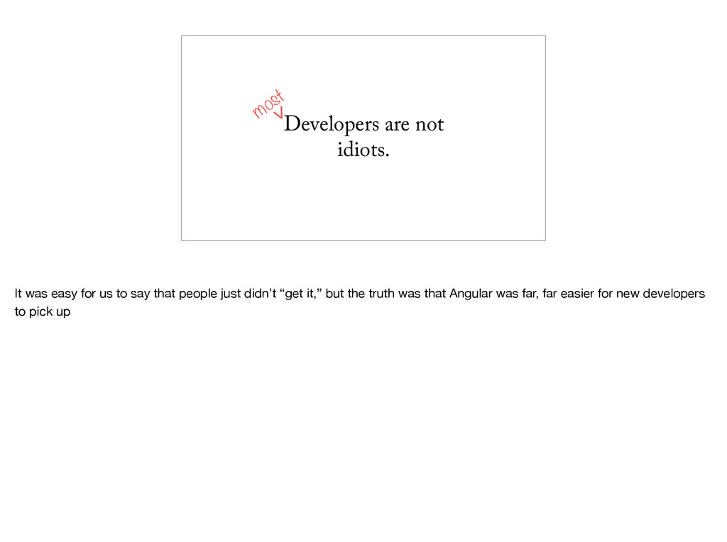 Developers are not idiots. most It was easy for...