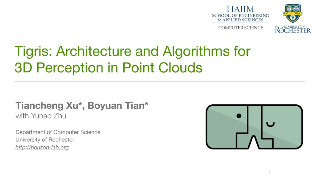 1 Tigris: Architecture and Algorithms for 
