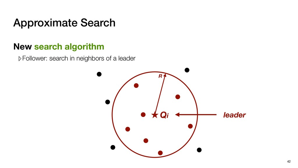 Approximate Search 42 Qi leader New search algo...