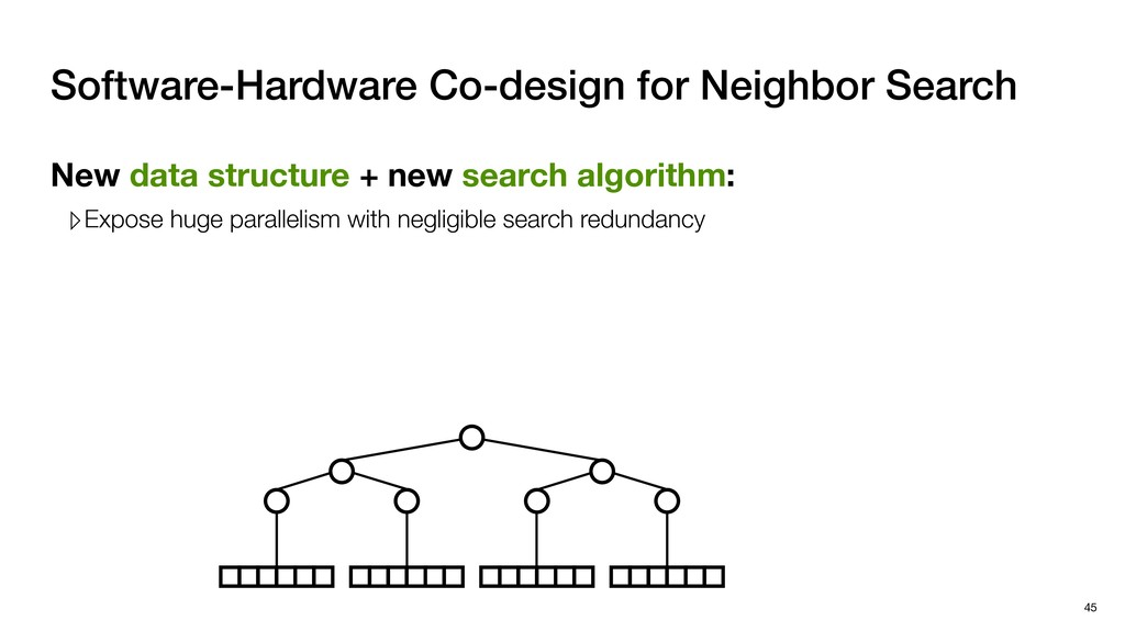 New data structure + new search algorithm: ▹Exp...