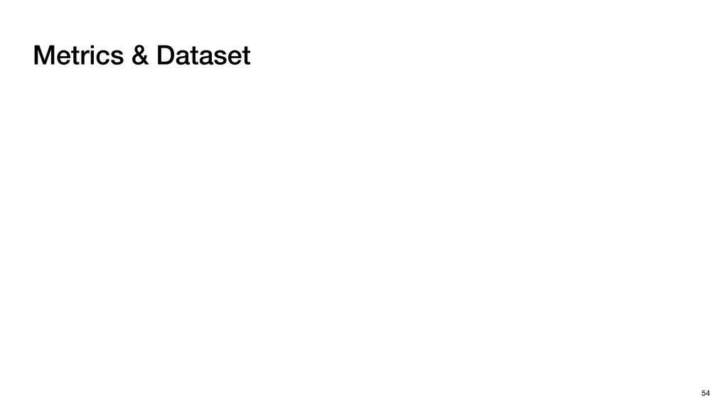 Metrics & Dataset 54
