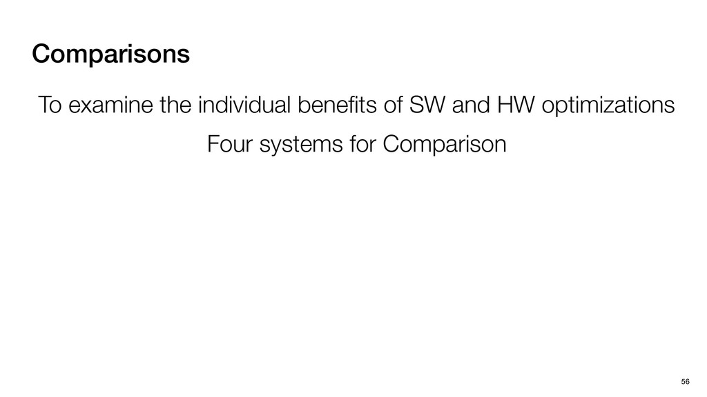Comparisons 56 To examine the individual benefit...