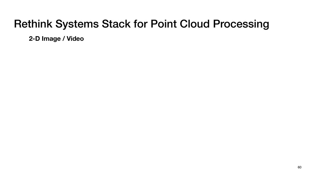 Rethink Systems Stack for Point Cloud Processin...