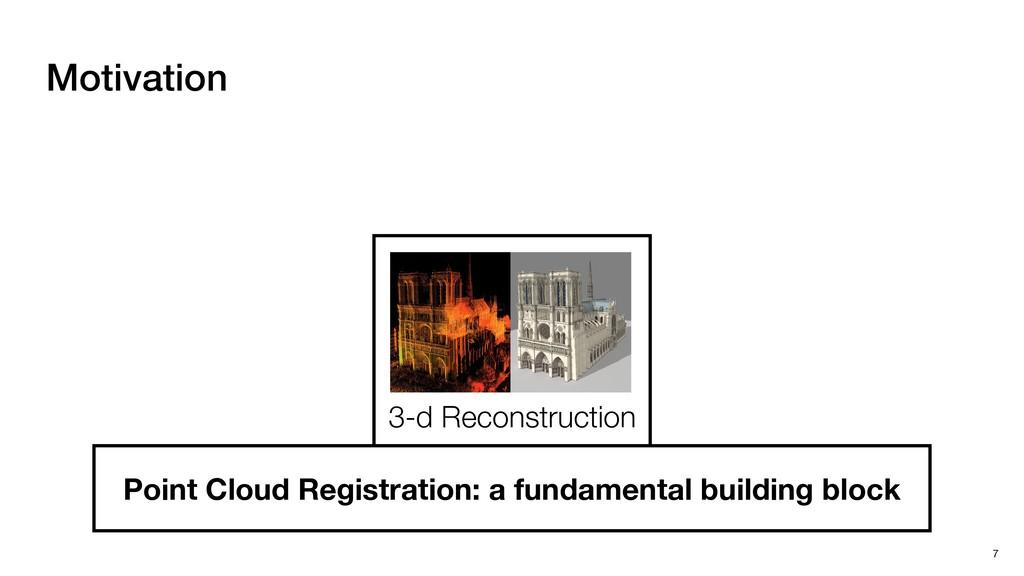 Motivation 7 3-d Reconstruction Point Cloud Reg...
