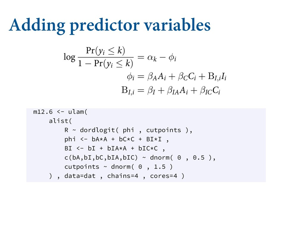 Adding predictor variables OEFY WBSJBCMF ćJT X...
