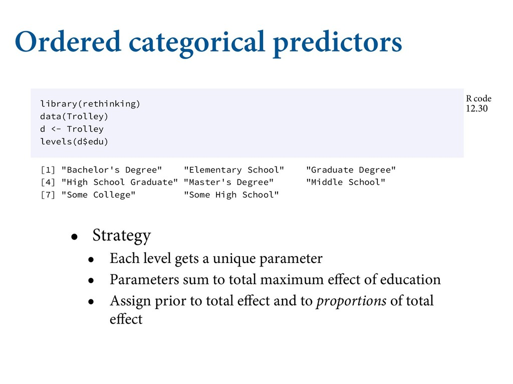 Ordered categorical predictors • Strategy • Eac...