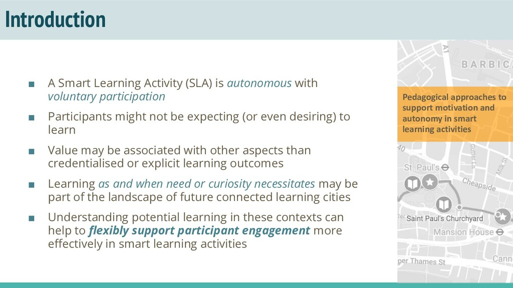 Introduction ■ A Smart Learning Activity (SLA) ...