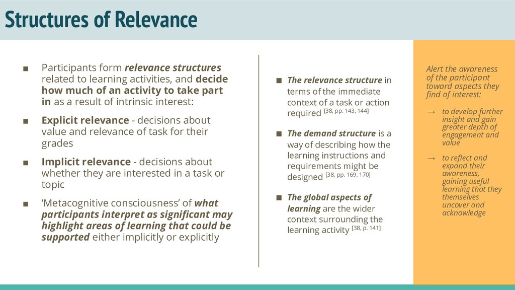 Structures of Relevance ■ Participants form rel...