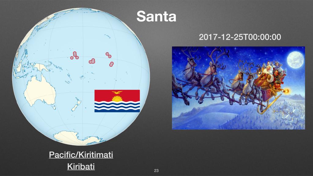 Santa 23 Kiribati 2017-12-25T00:00:00 Pacific/Ki...
