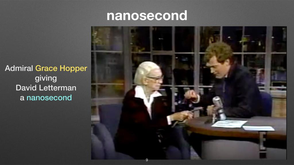 nanosecond Admiral Grace Hopper giving David Le...