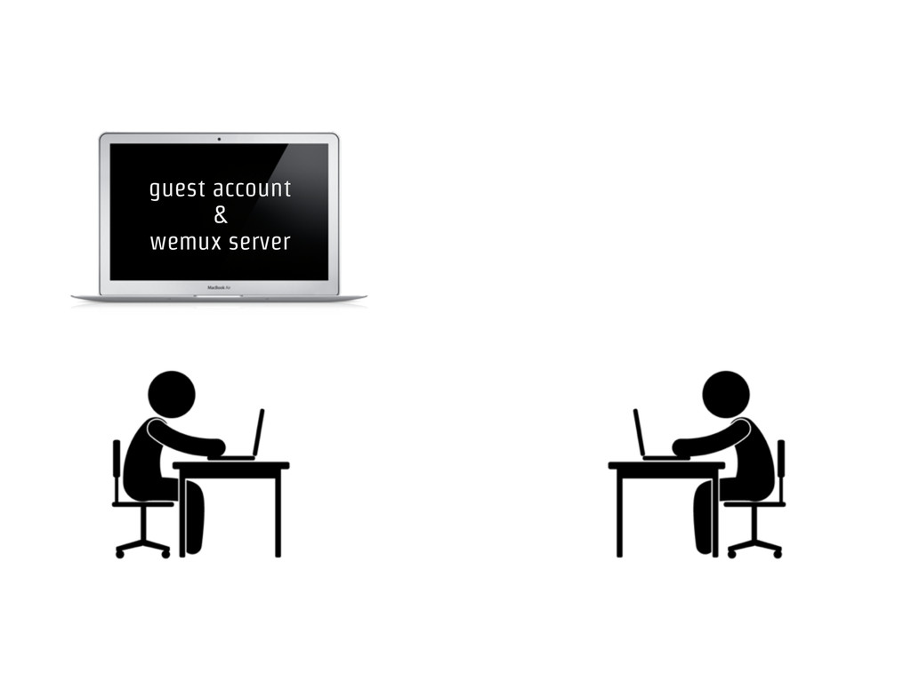 guest account & wemux server