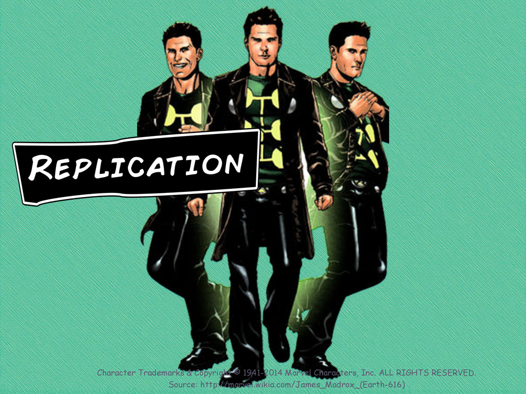 Replication Character Trademarks & Copyright © ...