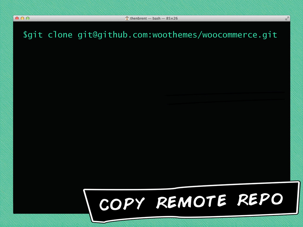 $git clone git@github.com:woothemes/woocommerce...