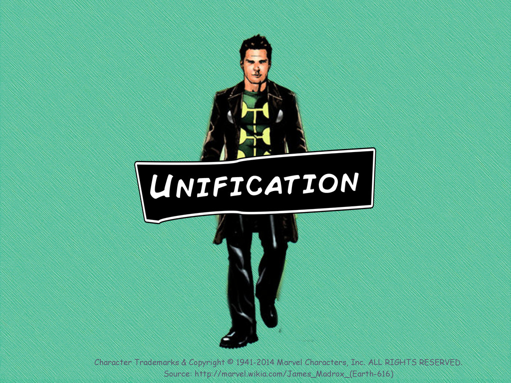 Unification Character Trademarks & Copyright © ...