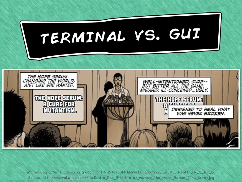 terminal vs. gui Marvel Character Trademarks & ...